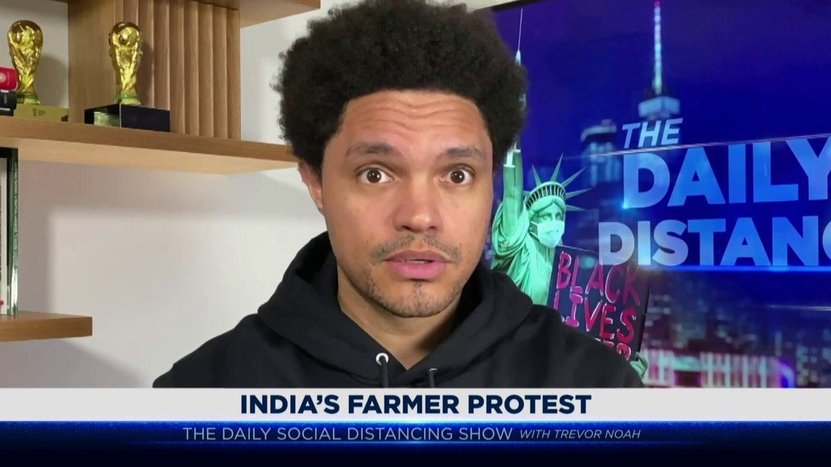 Why are India's farmers protesting? The government tried to change the decades-old agriculture laws and that's when the manure hit the fan.  If you don't know, now you know.