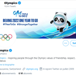 オリンピックの公式アカウント、背景画像が来年の北京オリンピックに!