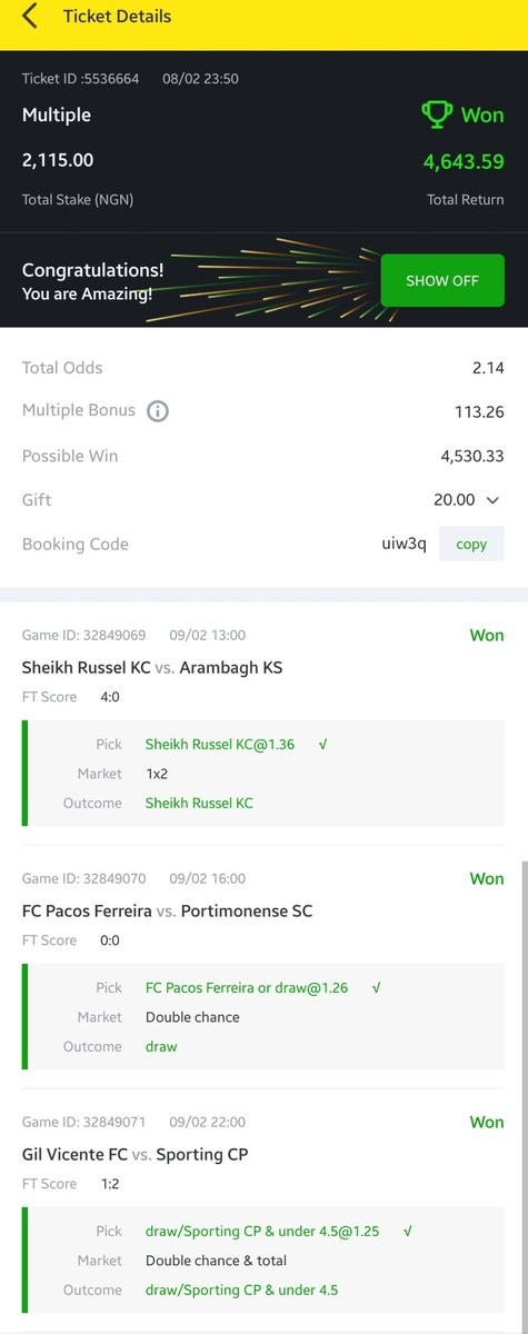 sheikh 1x2 betting