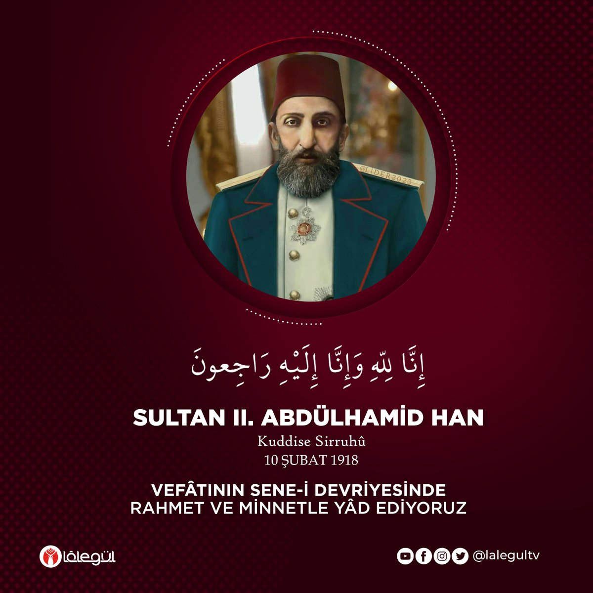 Lâlegül TV's tweet -