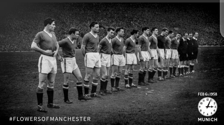Today, 63 years on from the Munich Air Disaster, our thoughts continue to be with everyone at @ManUtd and all those affected by the tragic event.  #FlowersOfManchester