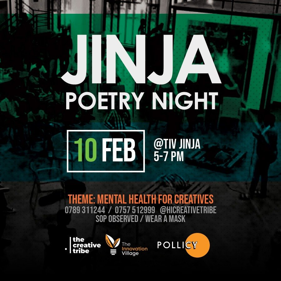This evening @TIVJinja, we will join the Jinja Poetry Night for poetry, spoken word, storytelling & conversation around the theme: Mental Health for Creatives.   This is is going to be an amazing conversation on #mentalhealth & #musicformentalhealth. https://t.co/6Dr1aGmgMT