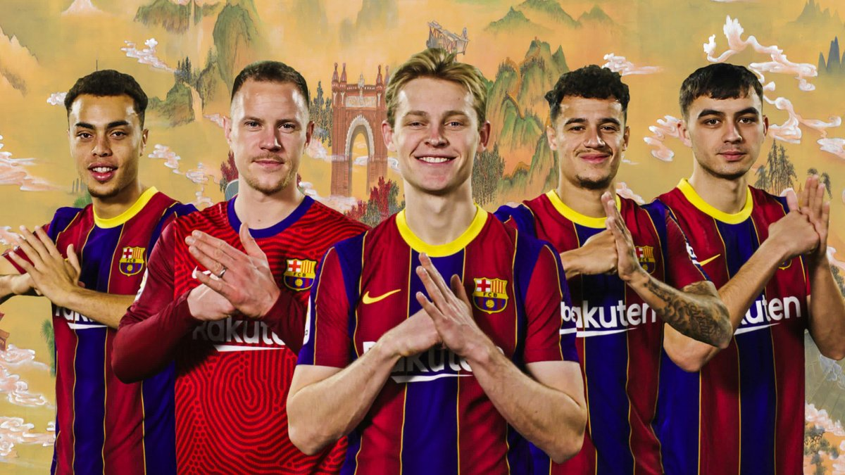 Replying to @FCBarcelona: 🤗 巴萨贺新春,牛年行大运! 🎊 巴薩賀新春,牛年行大運! 🎉🎉🎉 Happy Chinese New Year from Barça! 💙❤️