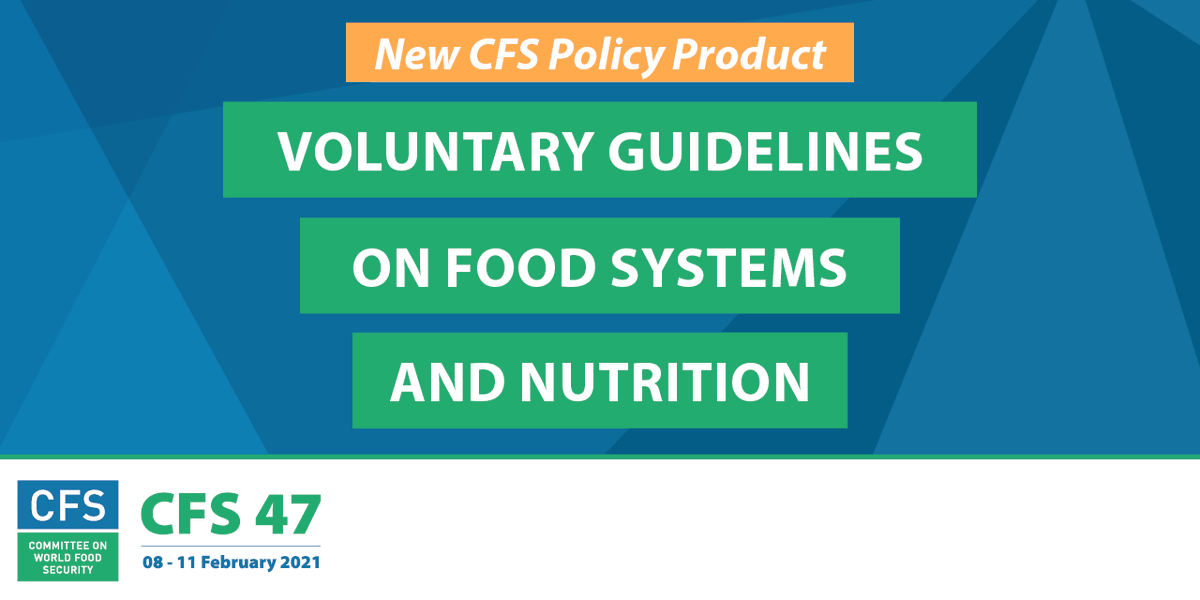 After over 300 hours of multistakeholder negotiations, @UN_CFS Voluntary Guidelines represent the global consensus on actions needed to ensure sustainable #foodsystems #CFS47 🙌🙌 Read IFBA's statement on #VGSyN here: https://t.co/2kYJYUU8T2
