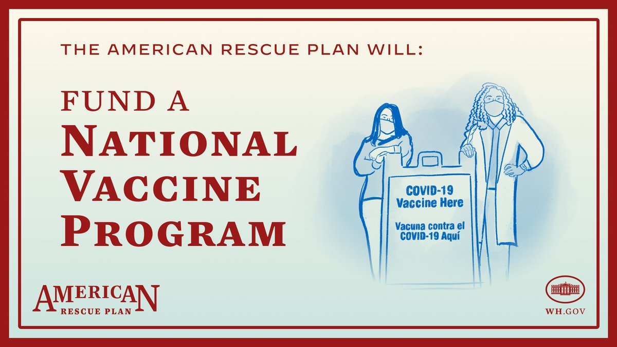 The American Rescue Plan will speed up vaccinations. This is about saving lives and containing the pandemic. It's time for Congress to act.
