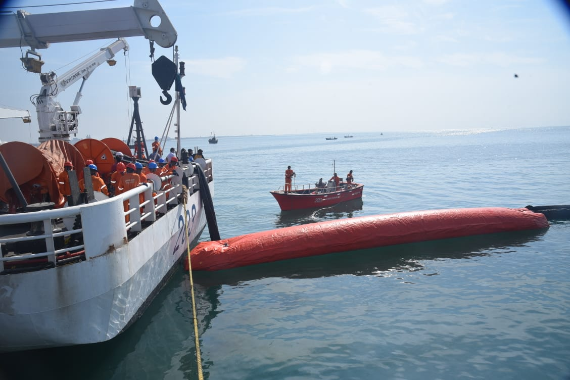 Coast Guard conducts pollution response mock drill off Porbandar coast