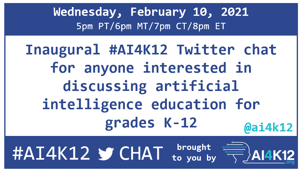 Hey #mketech - pretty cool to hear how other parts of the country are creating strategies to build on their implementation of computer science standards to include the 5 big ideas of AI by @ai4k12.  Join the conversation!  #AI4K12 @WisDPITech