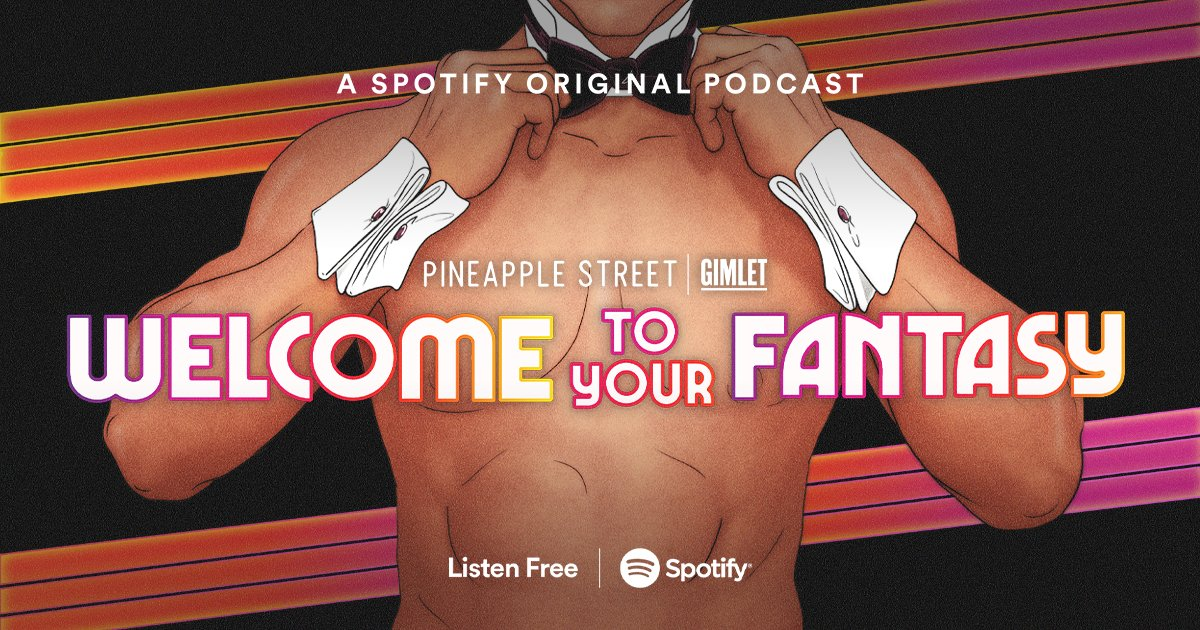 Cuffs, collars, and crime. #WelcomeToYourFantasy ✨exposes✨ the shocking and sordid story behind Chippendales — from seedy LA nightclub to global phenomenon and hotbed for drugs, corruption, and murder. All-new! And out now!! Listen for free on @Spotify. https://t.co/NVgVlSI9W7 https://t.co/dytLrcXXTn