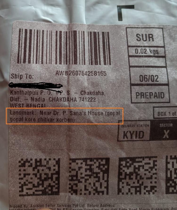 The Bong way of providing an address.