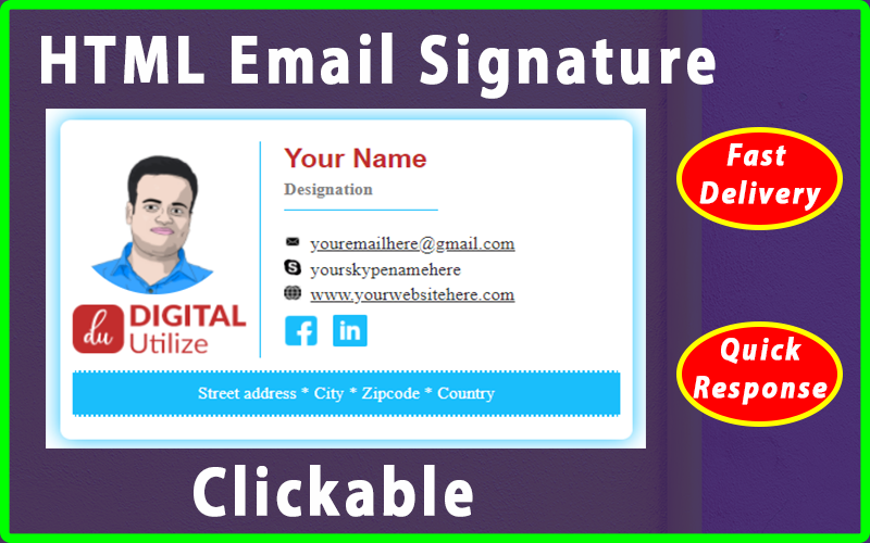 !  ! #emailsignature #htmlemailsignature #emailsignaturedesign #professionalclickableemailsignature  #clickableemailsignature #clickablehtmlemailsignature #gmailsignature #signatureemail