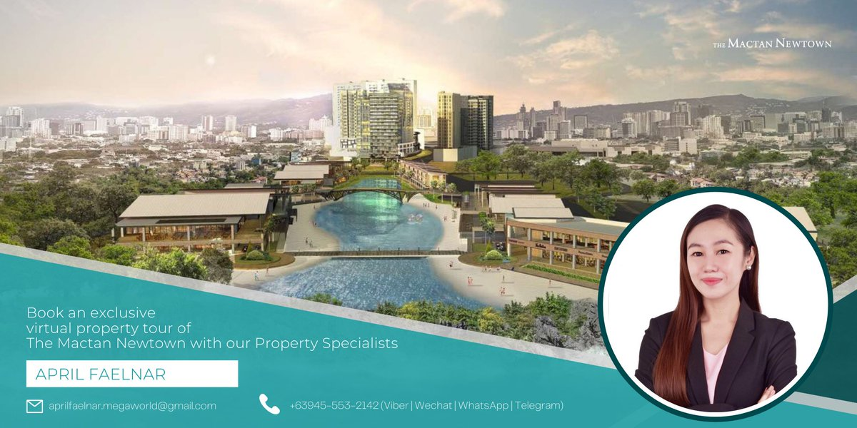 Looking for property investment?   For more details, you may contact me at  📧 aprilfaelnar.megaworld@gmail.com 📞 +63 945 553 2142  #Preselling #RentToOwn #Megaworld #TheMactanNewtown #CebuPhilippines #LivebytheBeach #realestate #investors https://t.co/envm8Ng2Gg