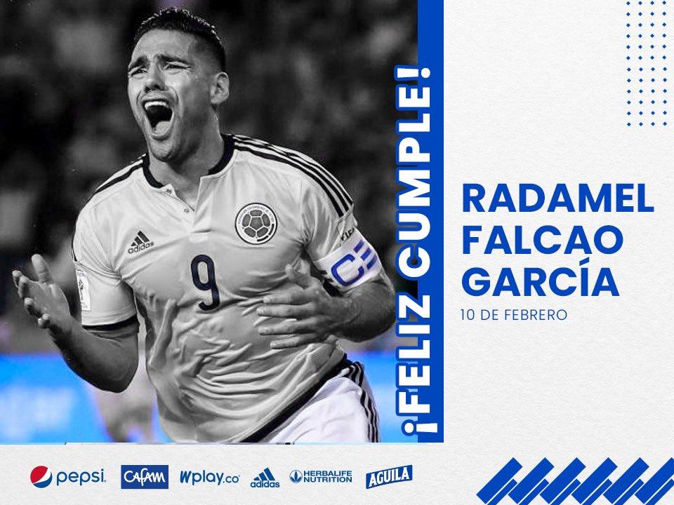 ¡La Familia Azul está de fiesta! 🥳🎂🐯💙 El Tigre, Radamel Falcao García cumple hoy 35 años. 🎉🎁Ⓜ️ Enviamos los mejores deseos de salud, prosperidad y felicidad a @FALCAO en su día. 🔵⚪️
