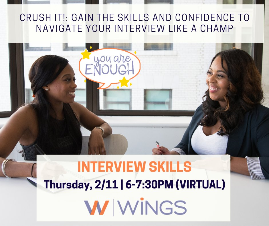 test Twitter Media - The WiNGS Interview Skills class is tomorrow! Will you join us? For those on the hunt for a new job or career, this is a great class to gain the confidence to make your move and crush that interview! Register at https://t.co/VaAFMOs4HS https://t.co/EpfQZOd1BF