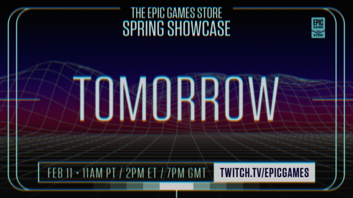 Only one day left! We won't spoil any of the showcase surprises, but here's what we CAN reveal:   Spring 2021 is looking great for PC gaming 👀    #EGSSpringShowcase |