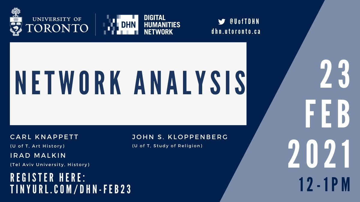 Good news everyone! The recording of the Feb 23rd Lightning Lunch on Network Analysis is now available! ⚡️  In case you were unable to attend the event, or if you would like to re-watch it, click here: https://t.co/UK5ZVbv3l5 #DigitalHumanities #CDHI #NetworkAnalysis