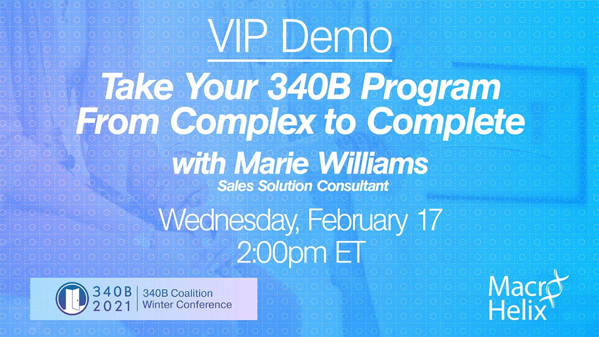 Just one hour until our VIP Demo session! We'll see you there! #340bconf