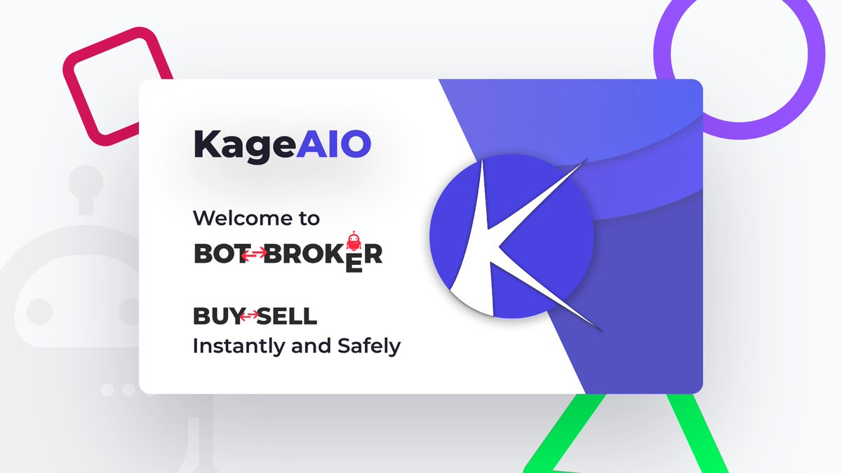 We're excited to announce the addition of @KageAIO to the BotBroker family 🥳  Safely buy or sell your keys now! 🔥    We're giving away a Kage renewal key to celebrate!   Follow, Like, RT and turn on notifications for a chance to win. ♥️