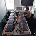 Image for the Tweet beginning: Hier werden 20 neue Homeoffice-Arbeitsplätze