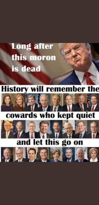 @CatHoffman14 Because that would mean 2 things:  It would have been the first time he told the truth in his life    and 2  It would have meant he showed a scintilla of courage after 75 years of cowardice!