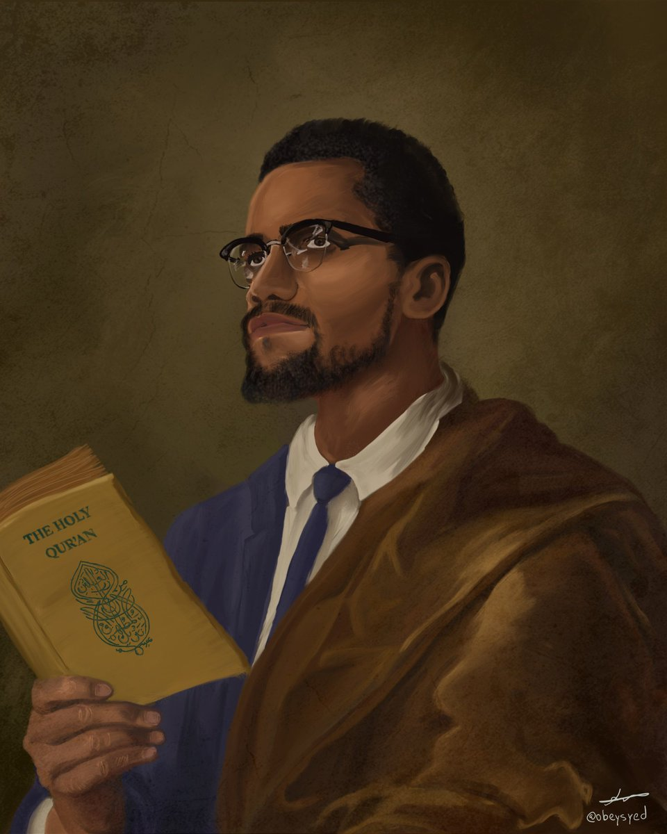 RT @obeysyed: Black History Month Portraits  Part 1 The Advocates  Malcolm X and Ilhan Omar https://t.co/G0RHRrcrAV