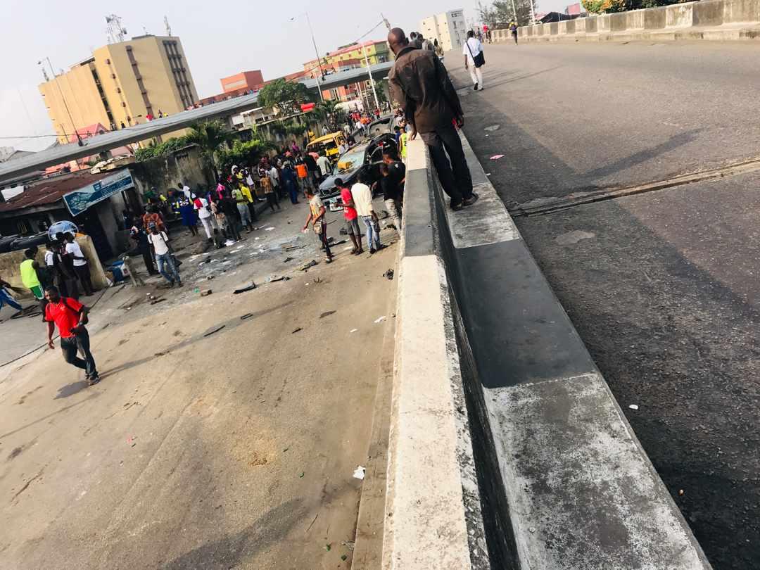Panic in Obalende Area of Lagos As Thugs Clash
