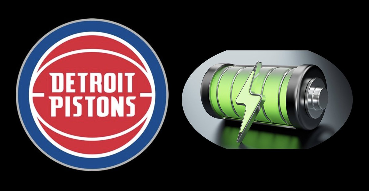 The day Detroit automakers all shift to Battery-Electric cars, I wonder if the @DetroitPistons @NBA basketball team will feel compelled to change their name?  From the Geekiverse, how about the Galvanic Cells? The Alkalines? The Lithium Ions? Or just the Detroit Rechargeables.