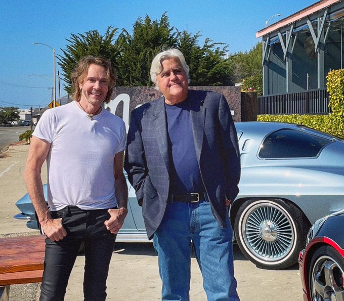 Jay Leno Jumps Into Action Saving Rick Springfield's Corvette From Rolling Lexus