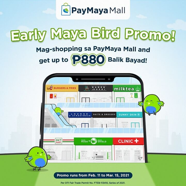 To kick off PayMaya Mall experience, get up to P880 cashback for your purchases inside PayMaya Mall. Enjoy this offer up to 10 times until March 15, 2021, or a total of P880 in Balik Bayad savings! @PayMayaOfficial  #Adobotech #PayMaya #DontPayCashPayMaya