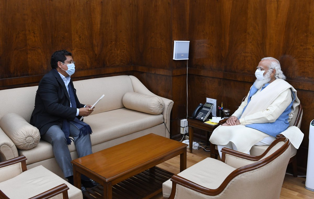 Shri @SangmaConrad, CM of Meghalaya met PM @narendramodi.