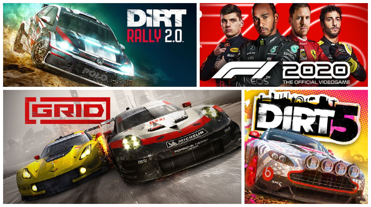 """All PC (Steam): DIRT 5 – 50% off F1 2020 – 60% off GRID – 75% off F1 2019 – 75% off DiRT Rally 2.0 – 75% off  Use """"MERGINATOR10"""" at checkout !  The sale is running from February 10th (12:01am GMT) to February 20th (11:59pm GMT).    #Retweet #Sale"""