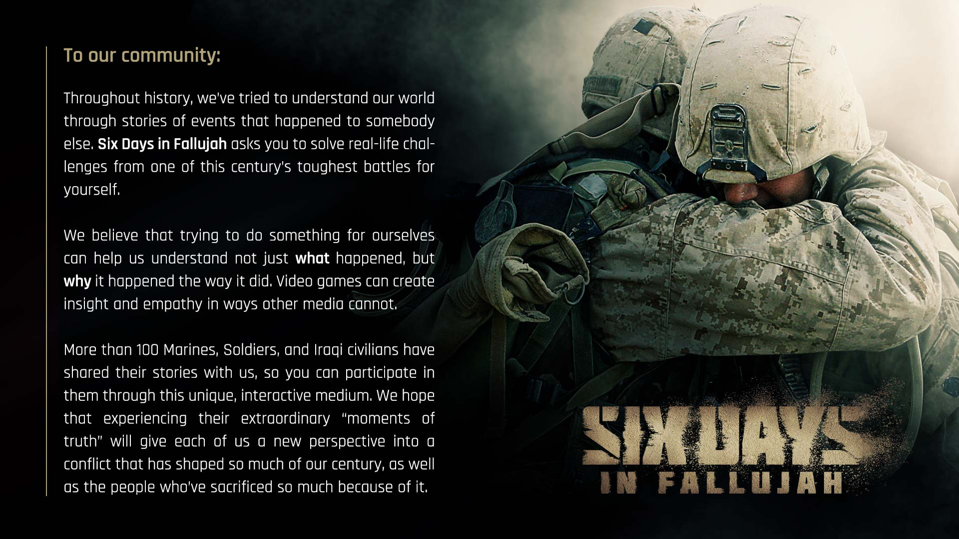Six Days of Fallujah - Community post - 11/02/21