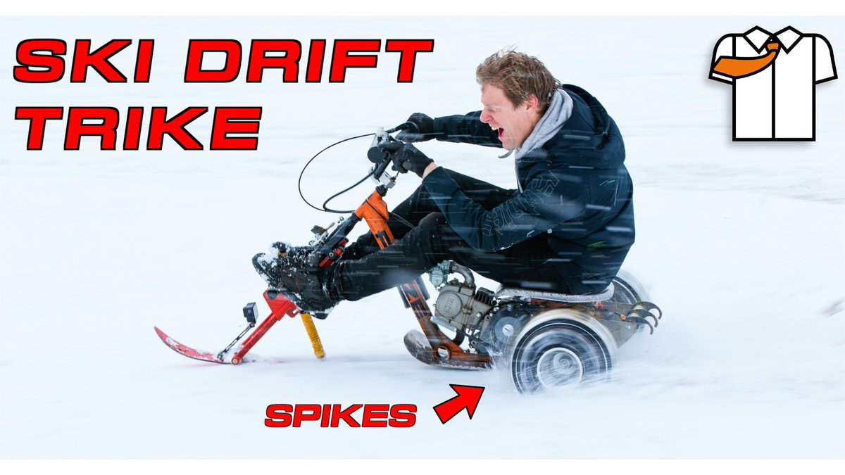 CHECK THIS OUT  #colinfurze #skitrike #drifting #snow #motocross