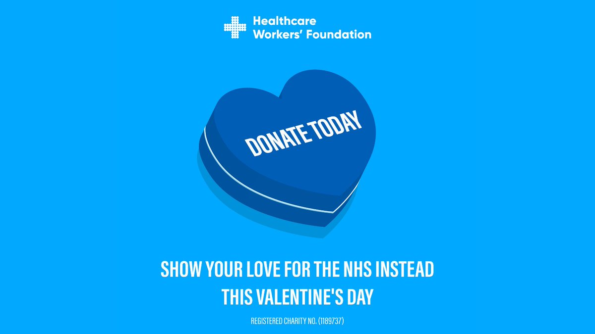 With NHS morale at an all-time low & Valentines Day around the corner, #showyourlove for someone else this year. Make exhausted NHS staff feel truly special by donating instead to @thehwf, funding welfare rooms & professional counselling. Donate today | bit.ly/2LzQRQx