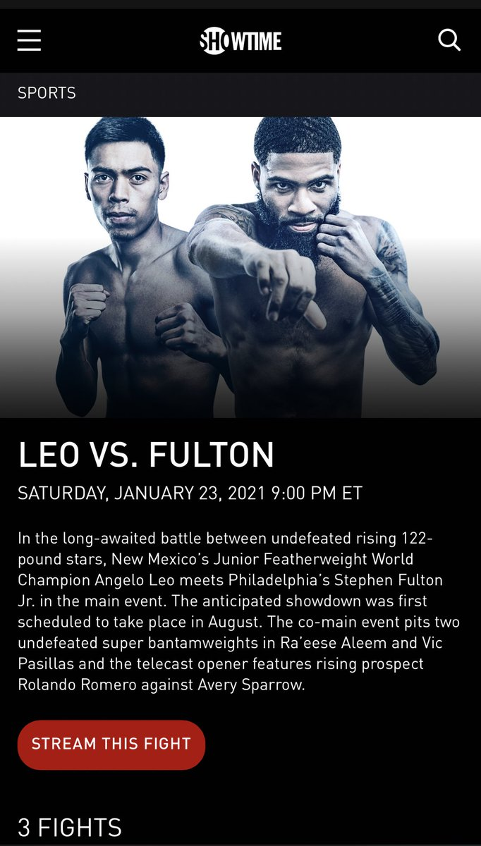 Go watch the #LeoFulton Fight again on @ShowtimeBoxing #CANTBESTOPPED
