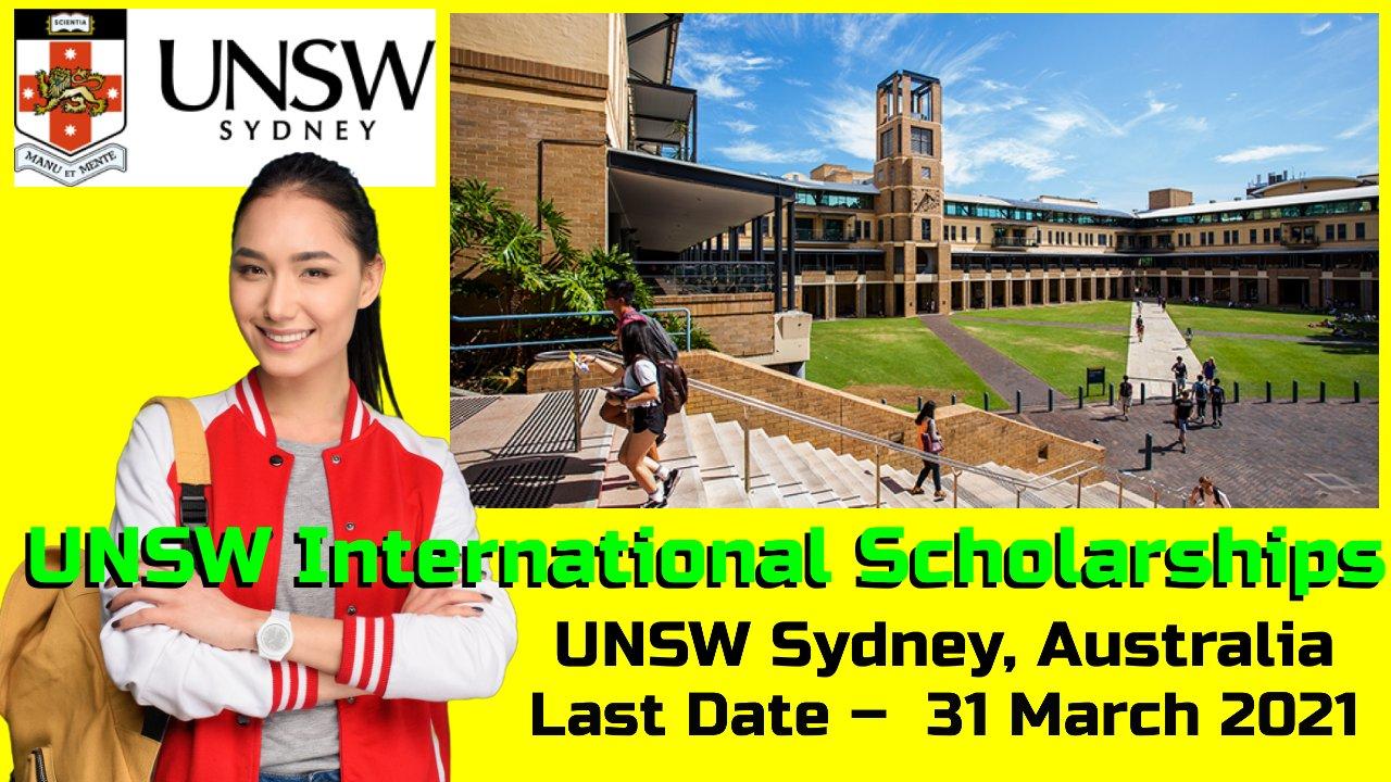UNSW International Scholarships at UNSW Sydney, Australia