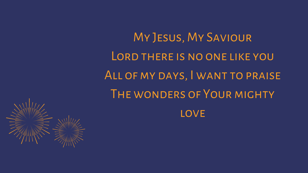 #SundayHymn lyrics from Darlene Zschech