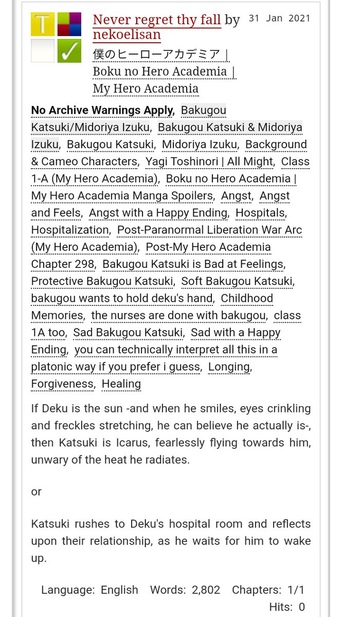 #mha298 #BNHA298 #MHAspoilers #MHA299  . . . . . . here I am a week late with the hospital bkdk fic post ch298 💫  If you want to check it out, here it is!! 💚🧡 #bakudeku #bkdk