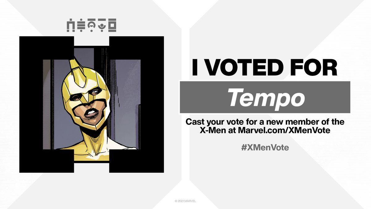 Did you vote for Tempo in the #XMenVote? Quote Tweet and tell us why she should be elected to the X-Men!  ❌:  #MarvelComics