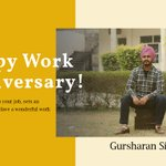 Image for the Tweet beginning: Congratulations, Gursharan! On your 'Work