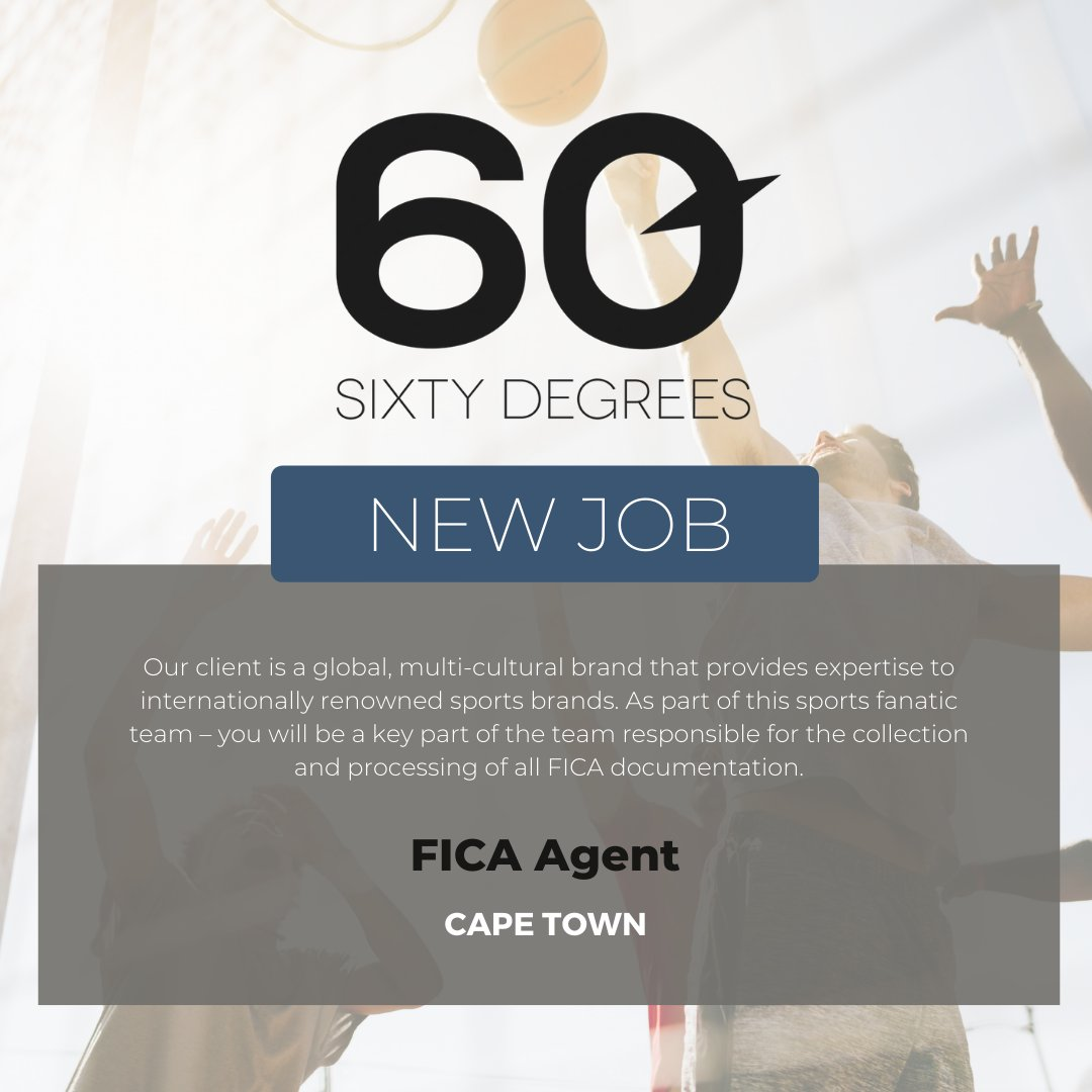 test Twitter Media - New #JobAlert - FICA Agent in Centruy City, Cape Town  For more information & to apply, please click on the link below;  https://t.co/2PWZUkCxg0  #nowhiring #60degrees #FICA https://t.co/RSFhSwPkJh