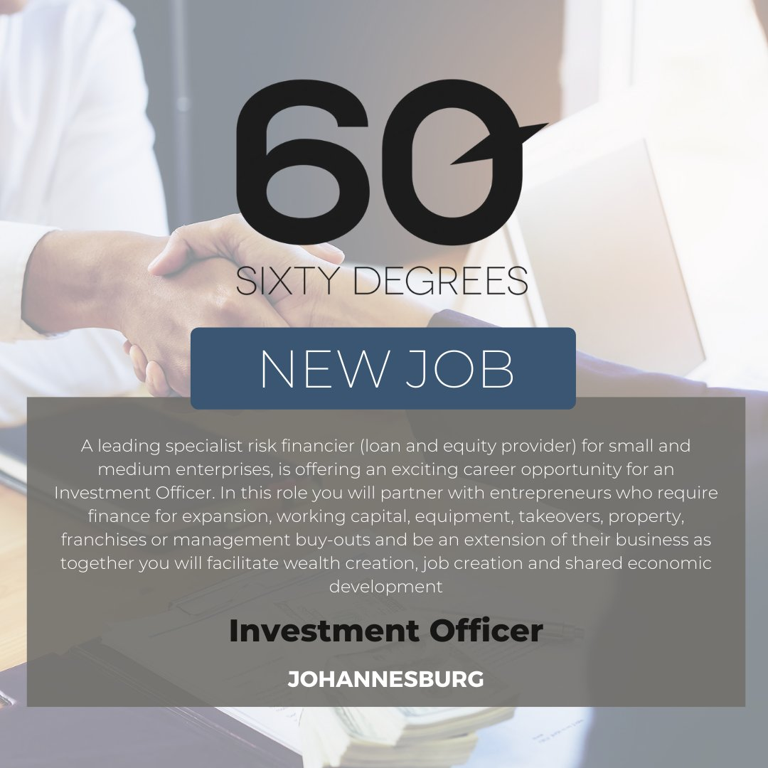 test Twitter Media - New #JobAlert - Investment Officer in Johannesburg  For more information & to apply, please click on the link below;  https://t.co/JezmiZZSXf  #nowhiring #60degrees #investment https://t.co/o7zVHoESsv