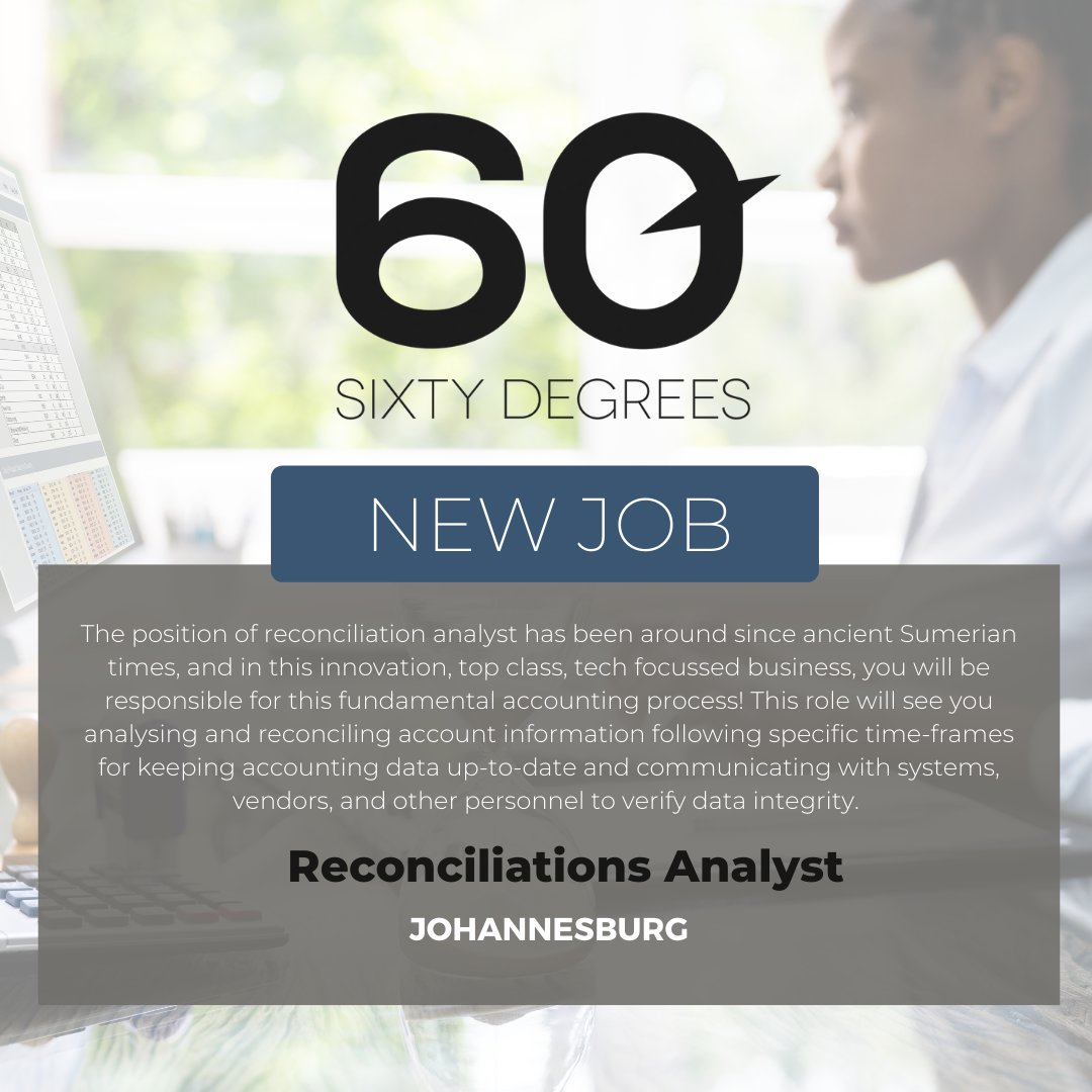 test Twitter Media - New #JobAlert - Reconciliations Analyst in Johannesburg  For more information & to apply, please click on the link below;  https://t.co/UXOKYiZknG  #nowhiring #60degrees #reconciliations https://t.co/oOAAeiLWbp