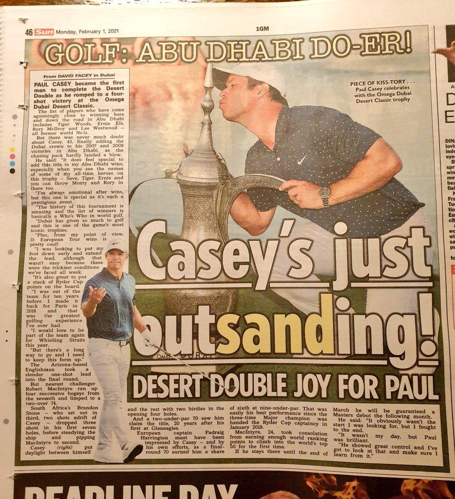 Congratulations @Paul_Casey Omega Dubai Desert Classic Golf champion @EuropeanTour #ODDC