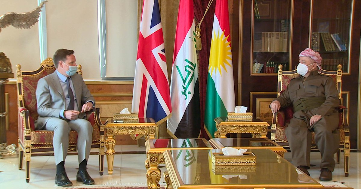 Had a productive meeting today with the British ambassador to Iraq, @sblhickey where we discussed the latest developments, particularly insofar as the relations between Baghdad and Erbil are concerned. https://t.co/SL3IIO2NTG