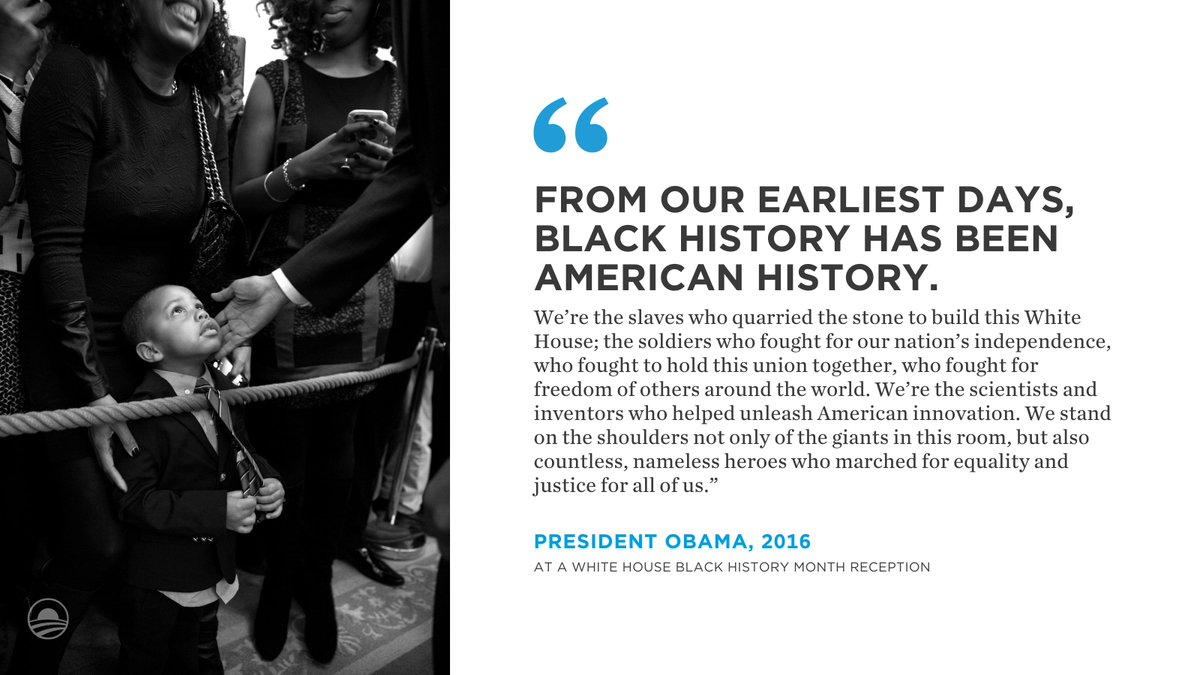 Throughout #BlackHistoryMonth, we will explore President @BarackObama and @MichelleObama's legacy and some of the Black leaders and activists who came before them.   We will be celebrating the kinds of inspiring stories that will be told at the future Obama Presidential Center.