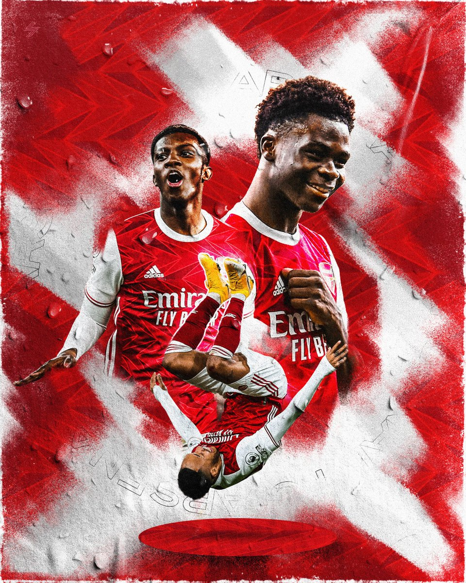 Going to do a design for every Premier League club this month, starting it off with @Arsenal   #arsenal #saka #nketiah #auba #smsports