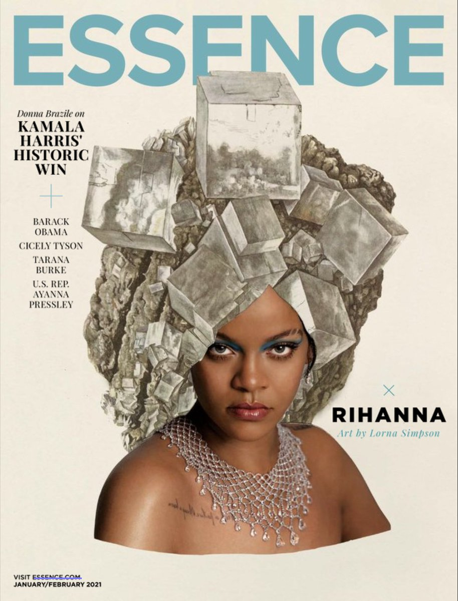 Renowned artist and alumnus #LornaSimpson's (BFA 1982 Photography) work graced the January/February 2021 cover of Essence. Check it out in our Flipster subscription: