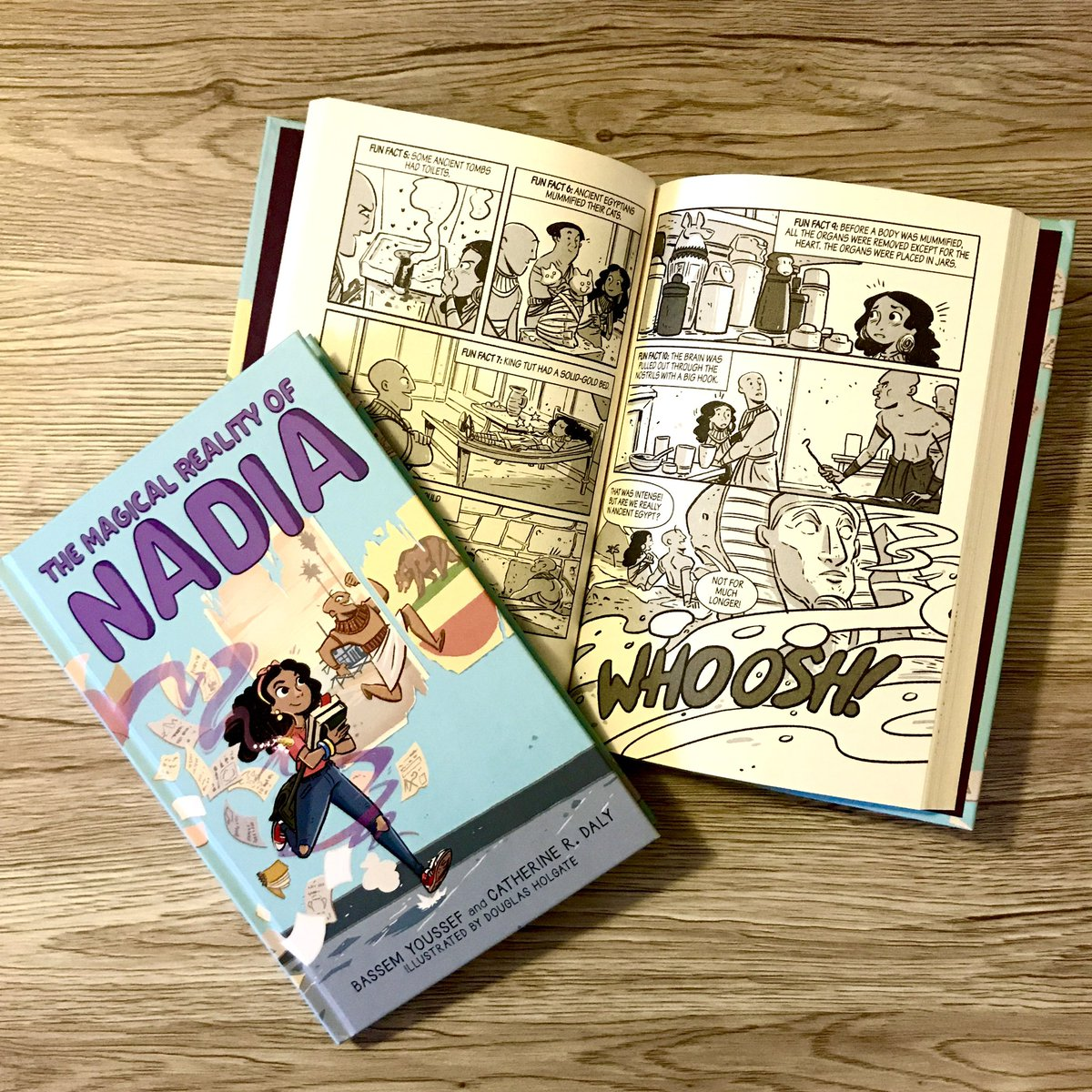 Fun fact about my new children's book with Scholastic #TheMagicalRealityofNadia, Coming  out TOMORROW: It is full of engaging comics as well as lively black-and-white illustrations throughout.Get your copy here:   link for Amazon :