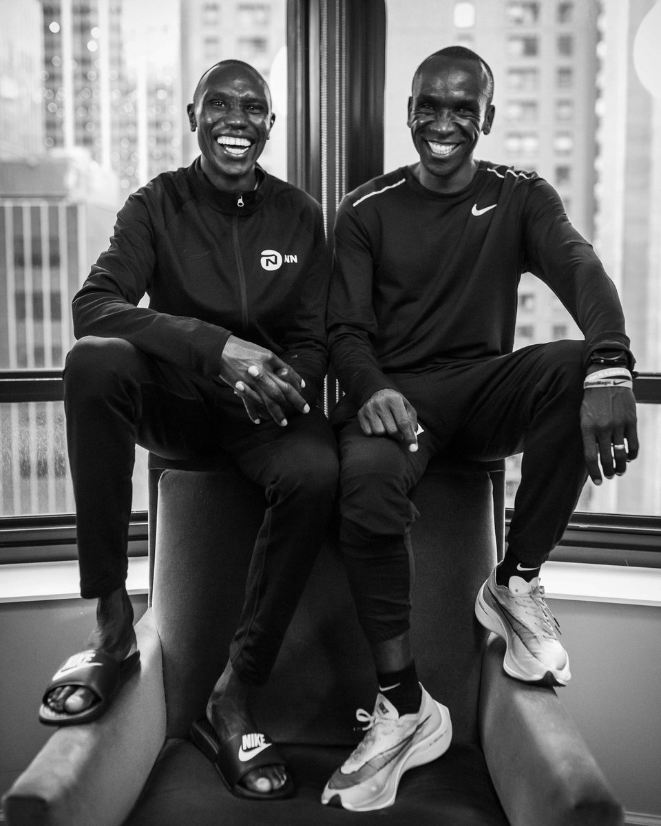 #MondayMemories 🔙 / Back in 2019, Eliud came to New York to cheer for his friend and teammate, Geoffrey, who won New York Marathon that year!