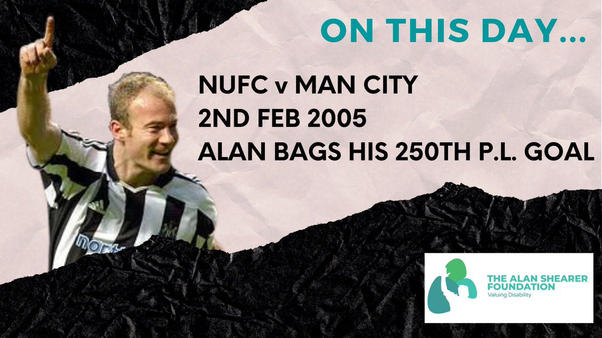 Did you know…on this day in 2005, @alanshearer scored his 250th @premierleague goal.  Congratulations!